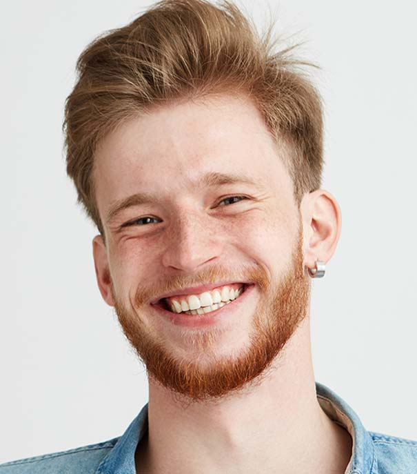 Young Red Haired Man Dermatology
